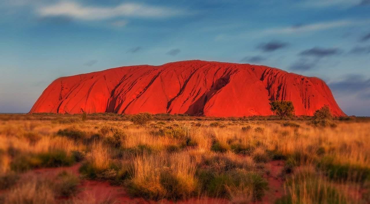 uluru, australia, monolith